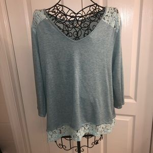 Kaileigh Lace Detail Knit Top - XL